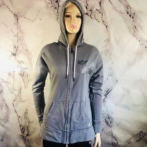 Toms gray zip up hoodie jacket sz m